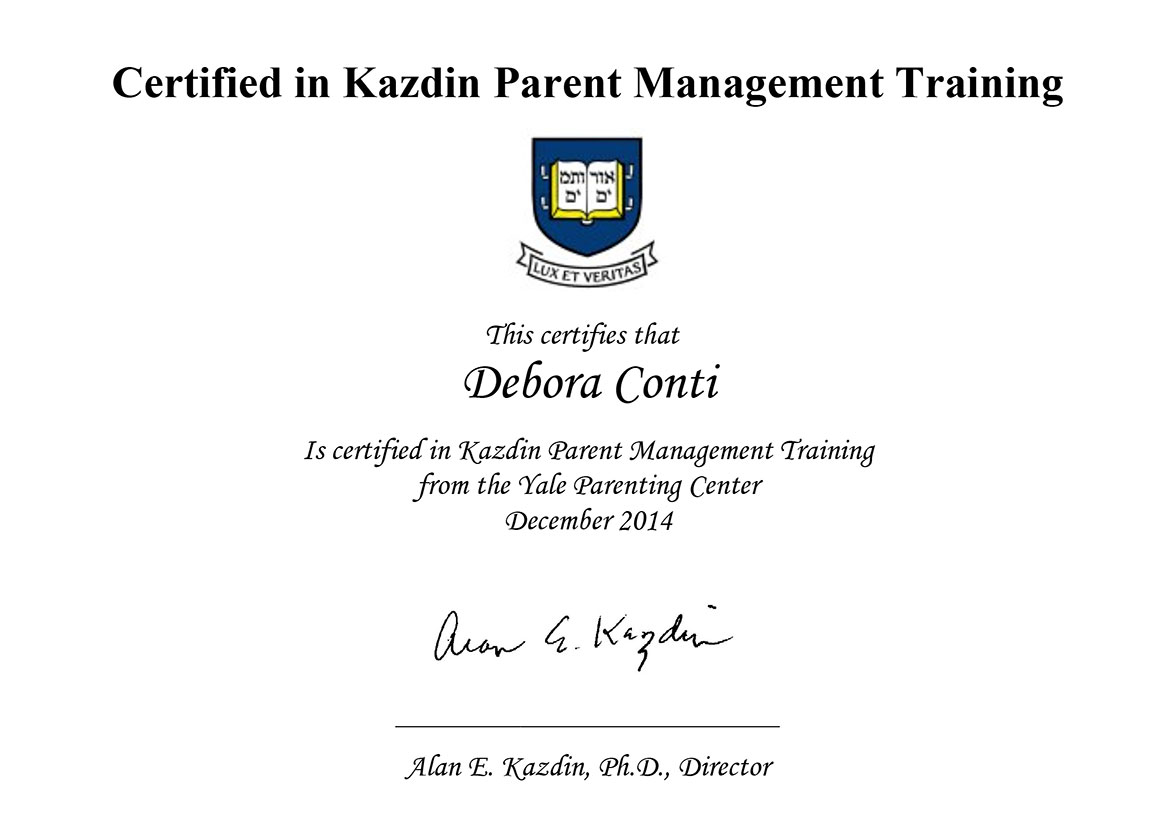 Kazdin Parent Management Training - Yale Parenting Center -- Debora Conti